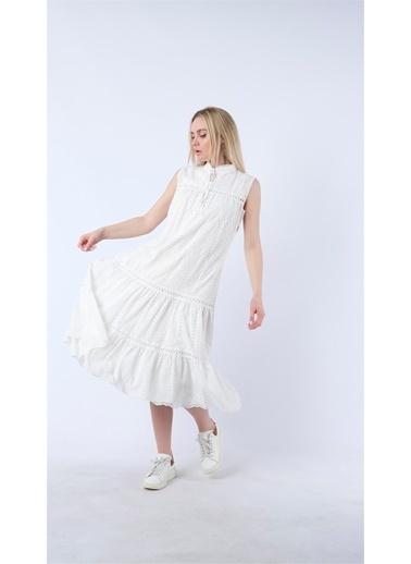 Cottonmood Elbise Beyaz